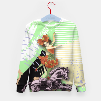 Thumbnail image of RIDING HORSE Kid's Sweater, Live Heroes