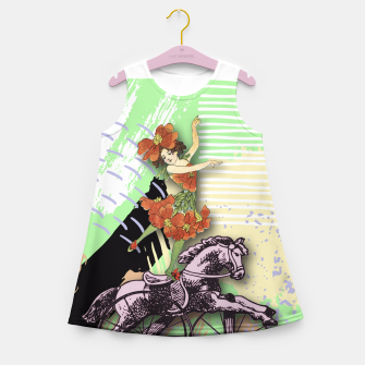 Thumbnail image of RIDING HORSE Girl's Summer Dress, Live Heroes
