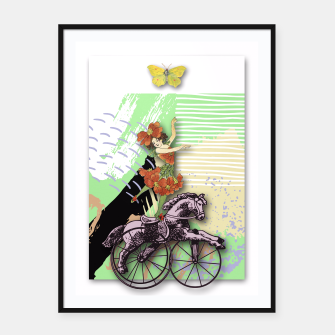 Thumbnail image of RIDING HORSE Framed poster, Live Heroes