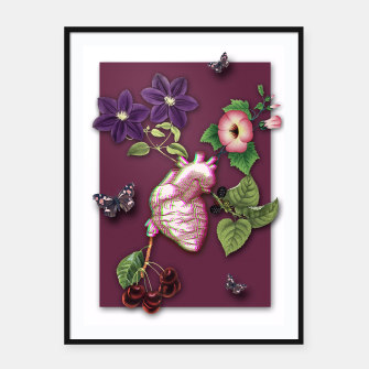 Thumbnail image of RIPENED HEART  Framed poster, Live Heroes