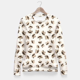 Thumbnail image of Autumn Leaves Motif Pattern Fitted Waist Sweater, Live Heroes