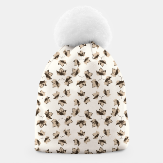 Thumbnail image of Autumn Leaves Motif Pattern Beanie, Live Heroes