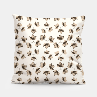 Thumbnail image of Autumn Leaves Motif Pattern Pillow, Live Heroes