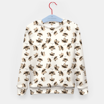 Thumbnail image of Autumn Leaves Motif Pattern Kid's Sweater, Live Heroes