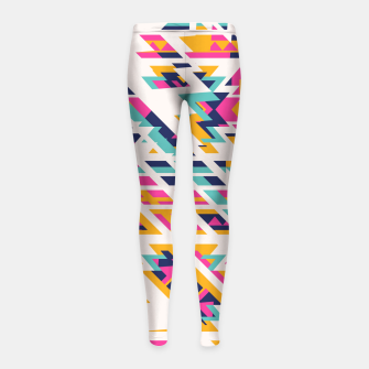 Miniatur Pattern design  Girl's Leggings, Live Heroes