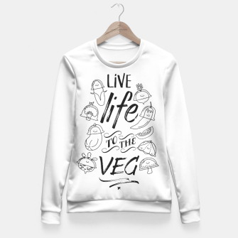 Thumbnail image of Live Life to the Veg Fitted Waist Sweater, Live Heroes