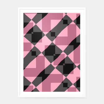 Thumbnail image of Pink Shadows Framed poster, Live Heroes