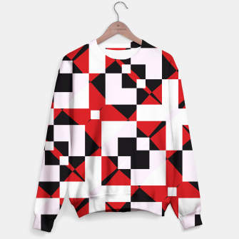 Thumbnail image of Red white and black abstract Sweater, Live Heroes