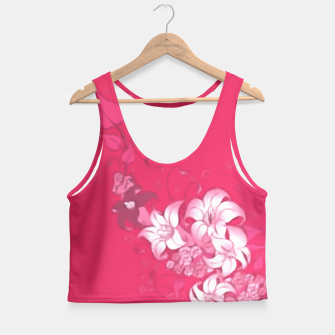 Thumbnail image of Pink with Flowers  Crop Top, Live Heroes