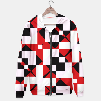 Thumbnail image of Red white and black abstract Hoodie, Live Heroes