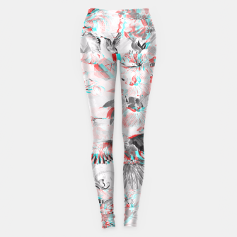 Thumbnail image of Tropical glitch Leggings, Live Heroes