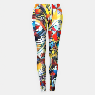 Thumbnail image of Colorful Confusion  Leggings, Live Heroes