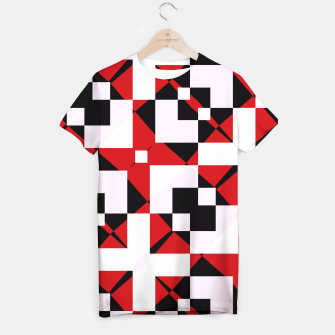 Thumbnail image of Red white and black abstract T-shirt, Live Heroes