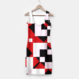 Thumbnail image of Red white and black abstract Simple Dress, Live Heroes