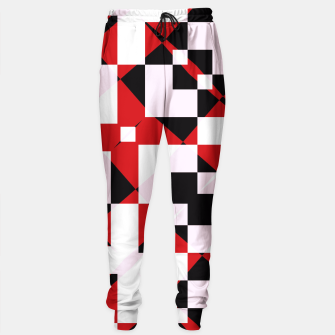 Thumbnail image of Red white and black abstract Sweatpants, Live Heroes