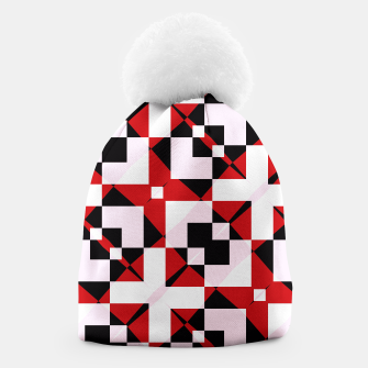 Thumbnail image of Red white and black abstract Beanie, Live Heroes