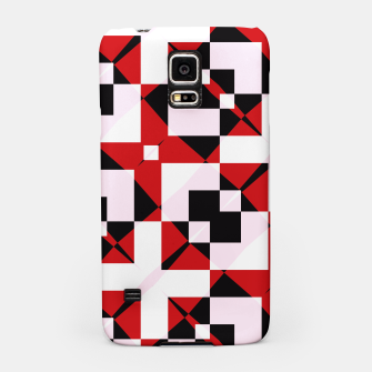 Thumbnail image of Red white and black abstract Samsung Case, Live Heroes