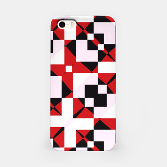 Thumbnail image of Red white and black abstract iPhone Case, Live Heroes