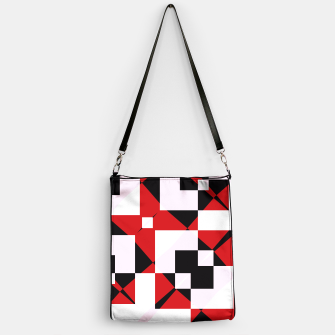 Thumbnail image of Red white and black abstract Handbag, Live Heroes