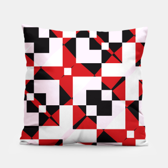 Thumbnail image of Red white and black abstract Pillow, Live Heroes