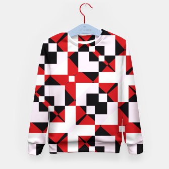 Thumbnail image of Red white and black abstract Kid's Sweater, Live Heroes