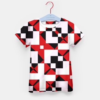 Thumbnail image of Red white and black abstract Kid's T-shirt, Live Heroes