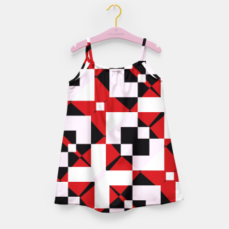 Thumbnail image of Red white and black abstract Girl's Dress, Live Heroes