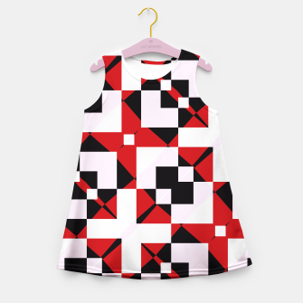 Thumbnail image of Red white and black abstract Girl's Summer Dress, Live Heroes