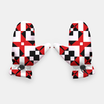 Thumbnail image of Red white and black abstract Gloves, Live Heroes
