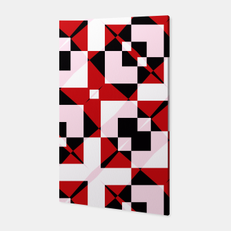 Thumbnail image of Red white and black abstract Canvas, Live Heroes
