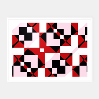 Thumbnail image of Red white and black abstract Framed poster, Live Heroes