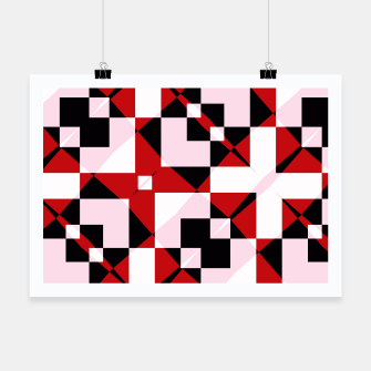 Thumbnail image of Red white and black abstract Poster, Live Heroes