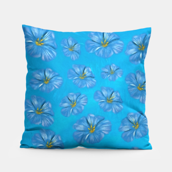 Thumbnail image of Blue Flowers  Pillow, Live Heroes
