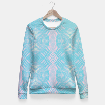 Thumbnail image of Colorful Abstract Pattern Fitted Waist Sweater, Live Heroes