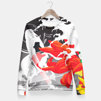 Thumbnail image of Kio fish - Japanese Kimono design Fitted Waist Sweater, Live Heroes