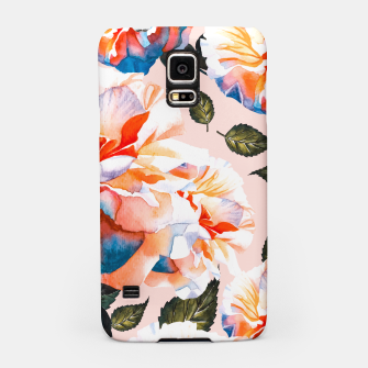 Thumbnail image of Big flowers blue - orange Carcasa por Samsung, Live Heroes