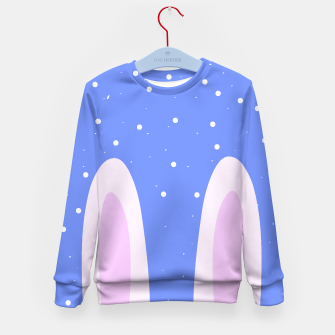 Thumbnail image of Kids Sweater blue / aptract rabbit , Live Heroes