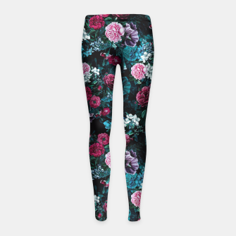 Thumbnail image of Night Garden VII Girl's Leggings, Live Heroes