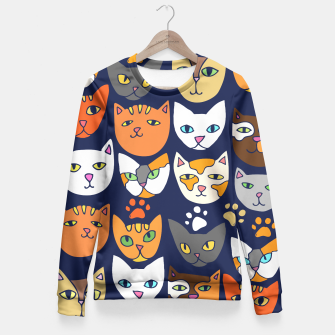 Thumbnail image of Kitty Cats Everyday Caturday Fitted Waist Sweater, Live Heroes