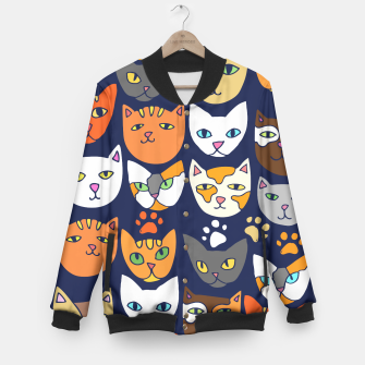 Thumbnail image of Kitty Cats Everyday Caturday Baseball Jacket, Live Heroes