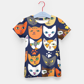 Thumbnail image of Kitty Cats Everyday Caturday Kid's T-shirt, Live Heroes