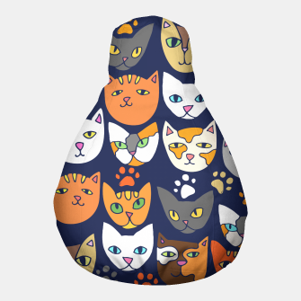 Thumbnail image of Kitty Cats Everyday Caturday Pouf, Live Heroes