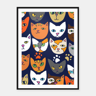 Thumbnail image of Kitty Cats Everyday Caturday Framed poster, Live Heroes