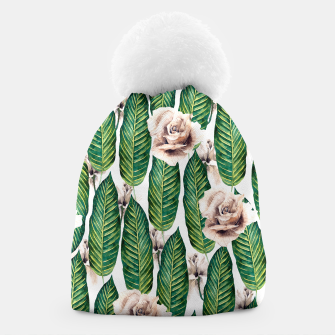 Thumbnail image of Tropical leaves and white roses Gorro, Live Heroes