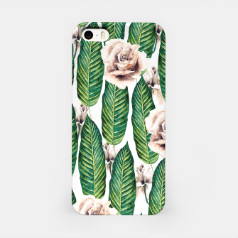 Thumbnail image of Tropical leaves and white roses Carcasa por Iphone, Live Heroes