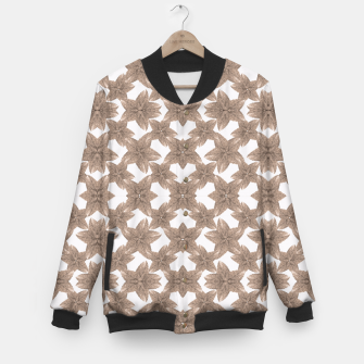 Thumbnail image of Stylized Leaves Floral Collage Baseball Jacket, Live Heroes