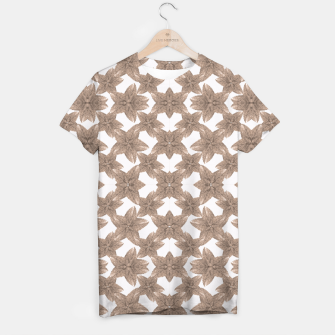 Thumbnail image of Stylized Leaves Floral Collage T-shirt, Live Heroes
