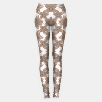 Thumbnail image of Stylized Leaves Floral Collage Leggings, Live Heroes