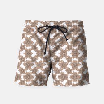 Thumbnail image of Stylized Leaves Floral Collage Swim Shorts, Live Heroes