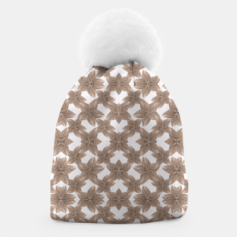 Thumbnail image of Stylized Leaves Floral Collage Beanie, Live Heroes